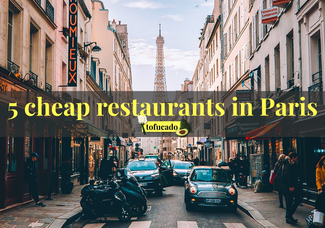 5 cheap restaurants in Paris photo cover with Eiffel Tower