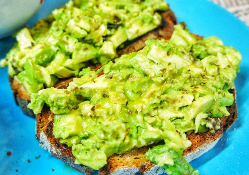Close up avocado toast