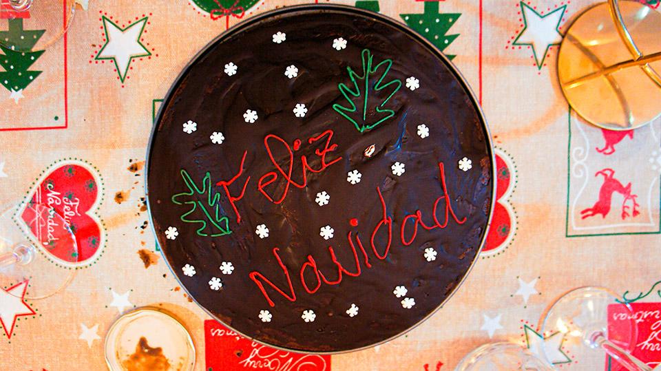Close up christmas cake