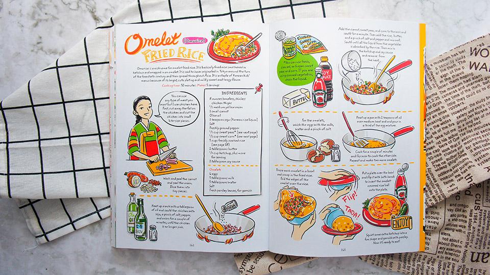 Omurice recipe of the Korean CookBook Cook Korean!