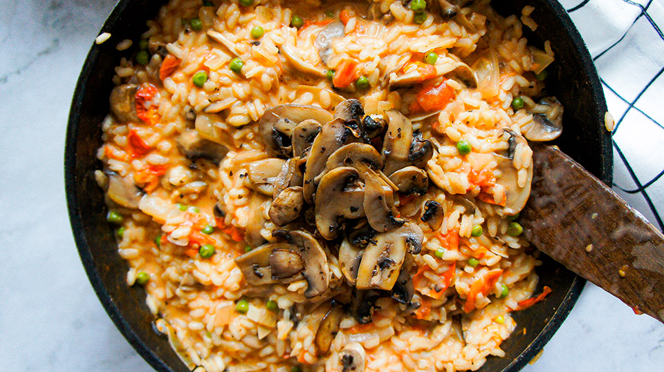 Close up Creamy Vegan Risotto