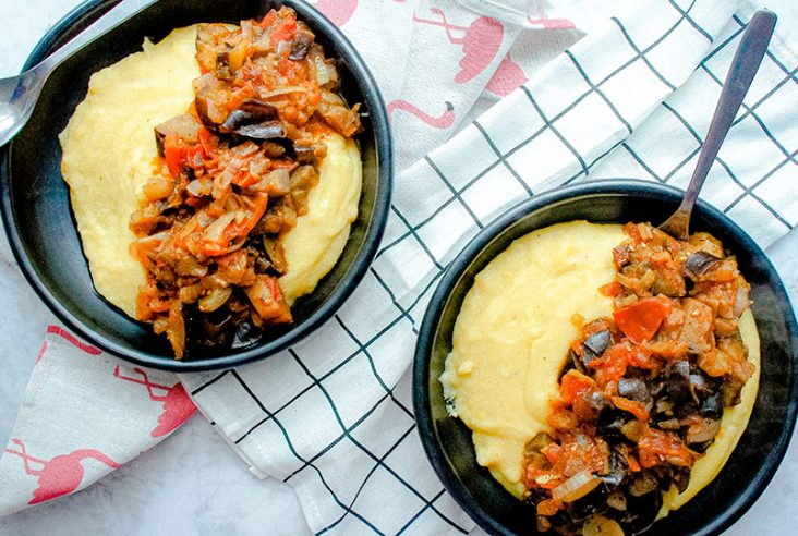 Creamy polenta recipe bowl