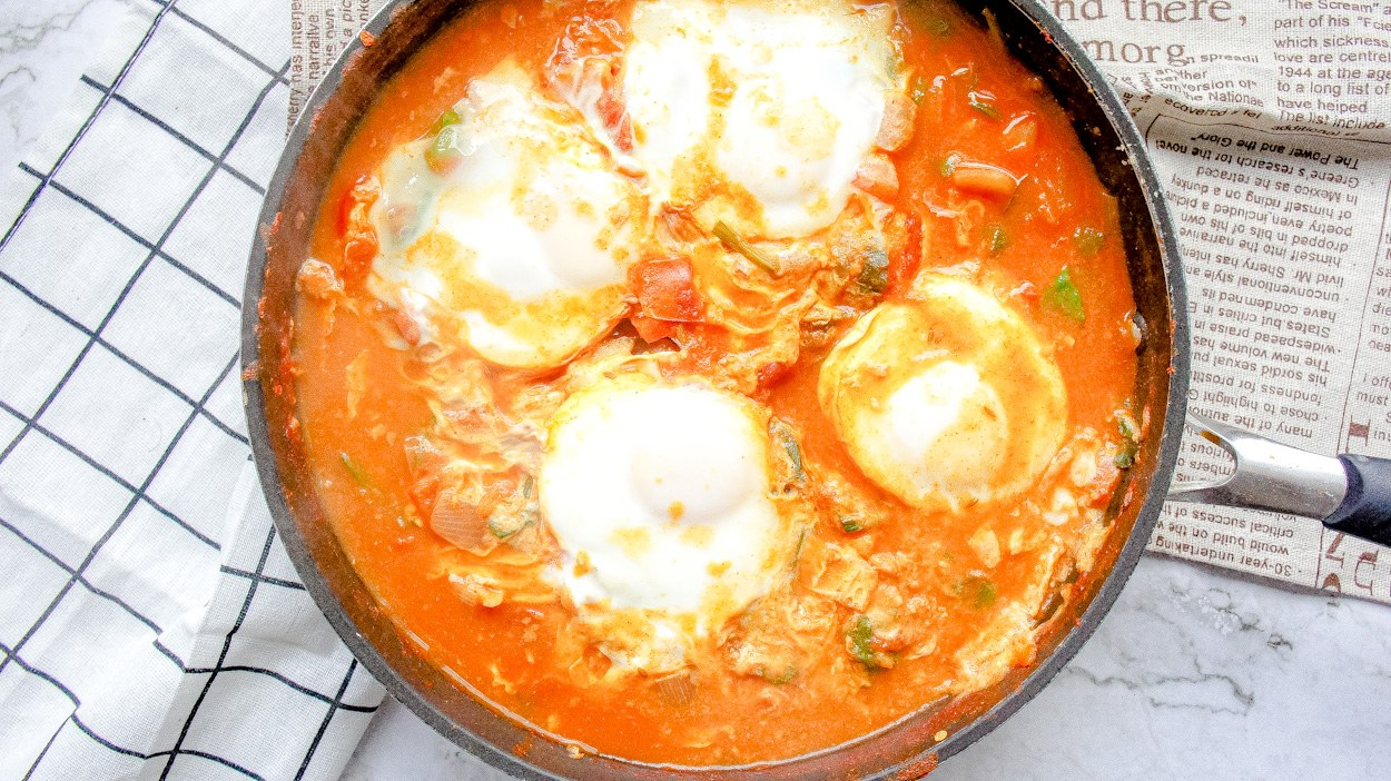 Close up shakshuka
