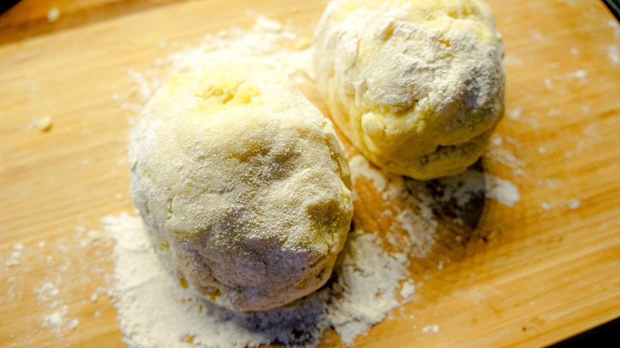 Dough homemade gnocchi