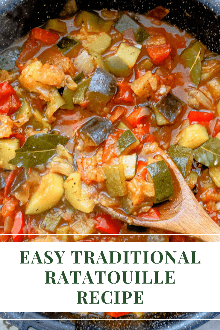 Pin traditional ratatouille recipe