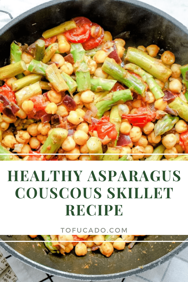 Healthy Asparagus Couscous Skillet pin
