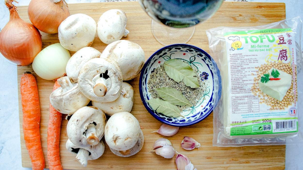 Ingredients Vegan Tofu Bourguignon