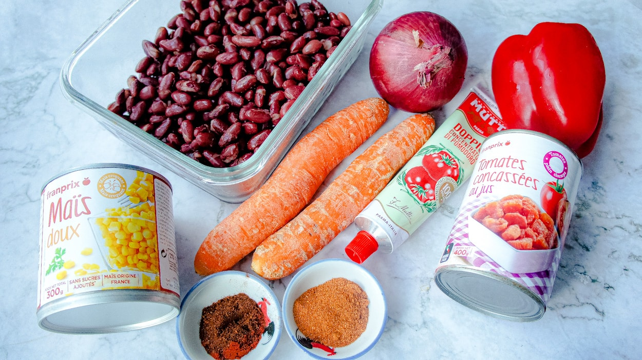 Ingredients Easy Vegan Chili